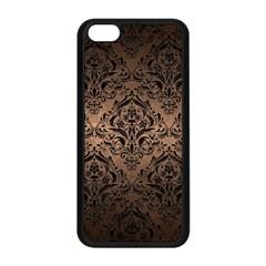 Damask1 Black Marble & Bronze Metal (r) Apple Iphone 5c Seamless Case (black) by trendistuff