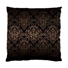 Damask1 Black Marble & Bronze Metal Standard Cushion Case (two Sides) by trendistuff