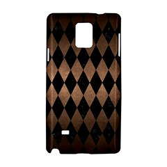 Diamond1 Black Marble & Bronze Metal Samsung Galaxy Note 4 Hardshell Case by trendistuff