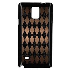 Diamond1 Black Marble & Bronze Metal Samsung Galaxy Note 4 Case (black) by trendistuff