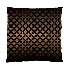 Circles3 Black Marble & Bronze Metal (r) Standard Cushion Case (two Sides) by trendistuff