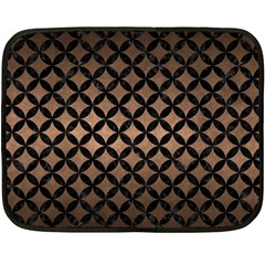 Circles3 Black Marble & Bronze Metal (r) Double Sided Fleece Blanket (mini) by trendistuff