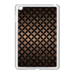 Circles3 Black Marble & Bronze Metal (r) Apple Ipad Mini Case (white) by trendistuff