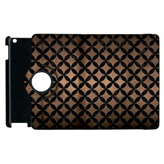 Circles3 Black Marble & Bronze Metal (r) Apple Ipad 3/4 Flip 360 Case by trendistuff