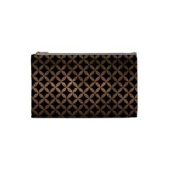 Circles3 Black Marble & Bronze Metal Cosmetic Bag (small) by trendistuff