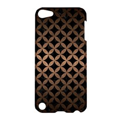 Circles3 Black Marble & Bronze Metal Apple Ipod Touch 5 Hardshell Case