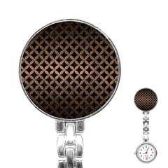 Circles3 Black Marble & Bronze Metal Stainless Steel Nurses Watch by trendistuff