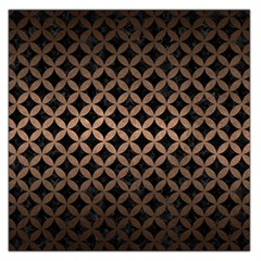 Circles3 Black Marble & Bronze Metal Large Satin Scarf (square) by trendistuff