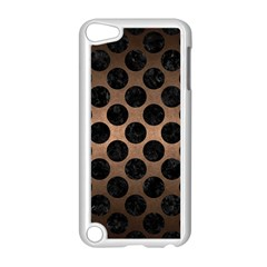 Circles2 Black Marble & Bronze Metal (r) Apple Ipod Touch 5 Case (white) by trendistuff