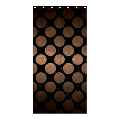 Circles2 Black Marble & Bronze Metal Shower Curtain 36  X 72  (stall) by trendistuff