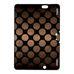 Circles2 Black Marble & Bronze Metal Kindle Fire Hdx 8 9  Hardshell Case by trendistuff