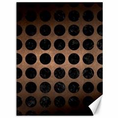 Circles1 Black Marble & Bronze Metal (r) Canvas 36  X 48  by trendistuff