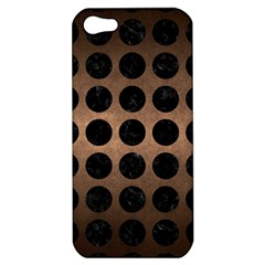 Circles1 Black Marble & Bronze Metal (r) Apple Iphone 5 Hardshell Case by trendistuff