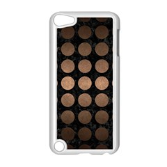 Circles1 Black Marble & Bronze Metal Apple Ipod Touch 5 Case (white) by trendistuff