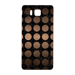 Circles1 Black Marble & Bronze Metal Samsung Galaxy Alpha Hardshell Back Case by trendistuff