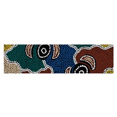 Aboriginal Art   Riverside Dreaming Satin Scarf (oblong) by hogartharts