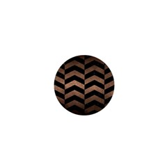 Chevron2 Black Marble & Bronze Metal 1  Mini Magnet by trendistuff