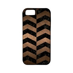 Chevron2 Black Marble & Bronze Metal Apple Iphone 5 Classic Hardshell Case (pc+silicone) by trendistuff