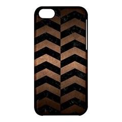 Chevron2 Black Marble & Bronze Metal Apple Iphone 5c Hardshell Case by trendistuff