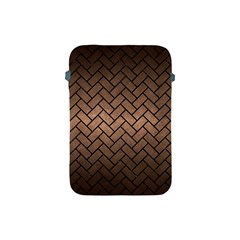 Brick2 Black Marble & Bronze Metal (r) Apple Ipad Mini Protective Soft Case by trendistuff