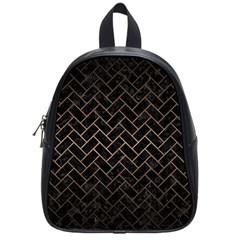 Brick2 Black Marble & Bronze Metal School Bag (small) by trendistuff
