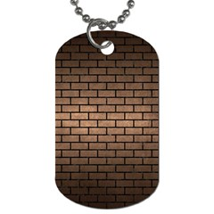 Brick1 Black Marble & Bronze Metal (r) Dog Tag (one Side) by trendistuff
