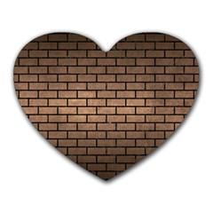 Brick1 Black Marble & Bronze Metal (r) Heart Mousepad by trendistuff
