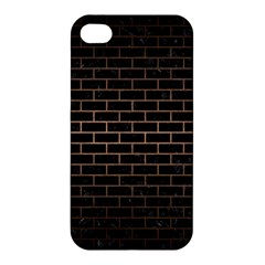Brick1 Black Marble & Bronze Metal Apple Iphone 4/4s Hardshell Case by trendistuff