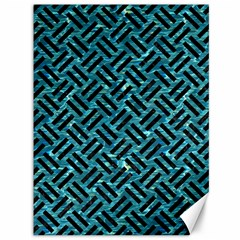 Woven2 Black Marble & Blue Green Water (r) Canvas 36  X 48  by trendistuff