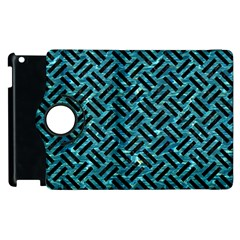Woven2 Black Marble & Blue Green Water (r) Apple Ipad 3/4 Flip 360 Case by trendistuff