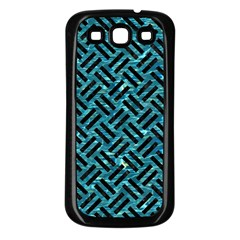 Woven2 Black Marble & Blue Green Water (r) Samsung Galaxy S3 Back Case (black) by trendistuff