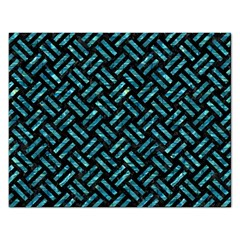 Woven2 Black Marble & Blue Green Water Jigsaw Puzzle (rectangular) by trendistuff