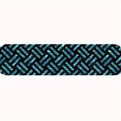 Woven2 Black Marble & Blue Green Water Large Bar Mat by trendistuff