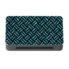 Woven2 Black Marble & Blue Green Water Memory Card Reader With Cf by trendistuff