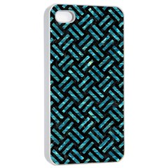 Woven2 Black Marble & Blue Green Water Apple Iphone 4/4s Seamless Case (white) by trendistuff