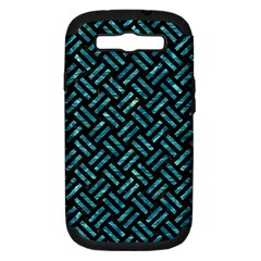 Woven2 Black Marble & Blue Green Water Samsung Galaxy S Iii Hardshell Case (pc+silicone) by trendistuff