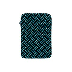 Woven2 Black Marble & Blue Green Water Apple Ipad Mini Protective Soft Case by trendistuff