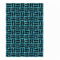 Woven1 Black Marble & Blue Green Water (r) Small Garden Flag (two Sides) by trendistuff