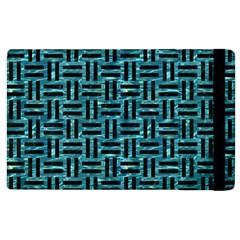 Woven1 Black Marble & Blue Green Water (r) Apple Ipad 2 Flip Case by trendistuff