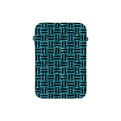 Woven1 Black Marble & Blue Green Water (r) Apple Ipad Mini Protective Soft Case by trendistuff