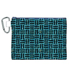 Woven1 Black Marble & Blue Green Water (r) Canvas Cosmetic Bag (xl) by trendistuff