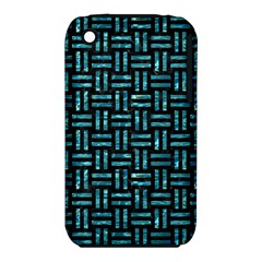 Woven1 Black Marble & Blue Green Water Apple Iphone 3g/3gs Hardshell Case (pc+silicone)