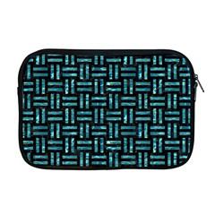 Woven1 Black Marble & Blue Green Water Apple Macbook Pro 17  Zipper Case by trendistuff