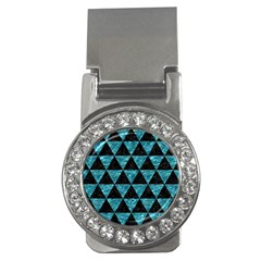 Triangle3 Black Marble & Blue Green Water Money Clip (cz) by trendistuff