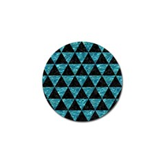 Triangle3 Black Marble & Blue Green Water Golf Ball Marker (10 Pack) by trendistuff