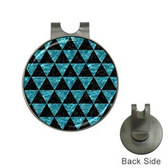 Triangle3 Black Marble & Blue Green Water Golf Ball Marker Hat Clip by trendistuff