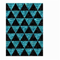 Triangle3 Black Marble & Blue Green Water Large Garden Flag (two Sides) by trendistuff