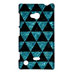 Triangle3 Black Marble & Blue Green Water Nokia Lumia 720 Hardshell Case by trendistuff