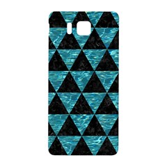 Triangle3 Black Marble & Blue Green Water Samsung Galaxy Alpha Hardshell Back Case by trendistuff