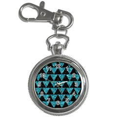 Triangle2 Black Marble & Blue Green Water Key Chain Watch by trendistuff